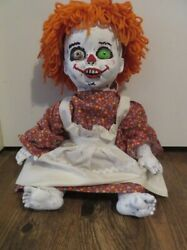 Creepy Animated Talking Laughing Raggedy Anne Doll Horror Halloween 18