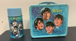 The Beatles Rare 1965 Vintage Metal Lunchbox And Thermos
