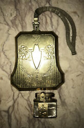Antique Art Nouveau Gold Sterling Silver Coin Purse And Marhill Pearl Lighter