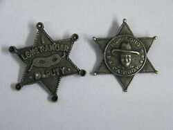 Vintage Hopalong Cassidy And Lone Ranger Toy Deputy Badges