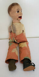 Vintage Jerry Mahoney 21 Ventriloquist Dummy Mouth Moves