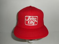 Vintage 80s 90s Frito Lay Patch Trucker Snapback Hat Cap