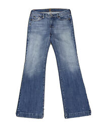 7 Seven For All Mankind Womens Bootcut Blue Jeans Size 30 Light Wash Denim