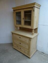 A Rare Victorian Antique/old Pine Large Kitchen Dresser To Wax /paint
