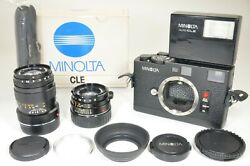 Minolta Cle Camera And Lenses M-rokkor 40mm F2 And 90mm F4 A1582 Film Tested