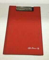 Alfa Romeo New Original Solid Notebook Paper - Red Vintage Note Book