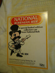 National Bohemian Beer Natty Boh Stand Up Sign Mr Boh Can Series 14 Baltimore