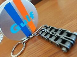 Gulf Porsche 911 991 Rsr Wec Le Mans Timing Chain Keyring. Car Part Gifts