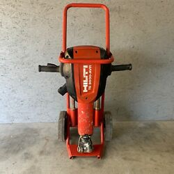 Hilti Te 3000-avr Electric Demolition Jack Hammer Breaker With Cart And 4 Bits