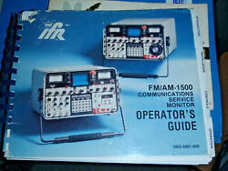 Ifr Fm/am 1500 Communications Service Monitor Operator's Guide