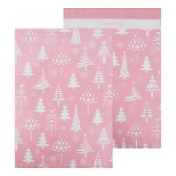 Christmas Trees - Rose Gold - Printed Poly Mailers 14.5x19 - Pack Of 50