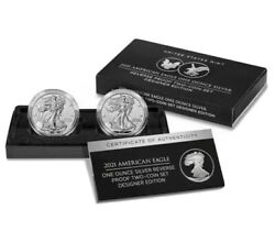 American Eagle 2021 Silver Reverse Proof Two-coin Set Designer 21xj  Lot Of 5