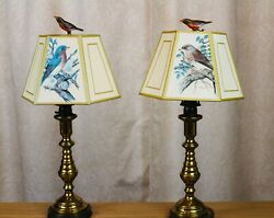 Pair Of Ph Gonner Mid Century Bird Themed Table Lamps Complete And Very Rare