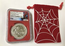 2017 Cook Islands 5 Spiderman Homecoming 1 Oz Silver Ngc Pf70 Ultra Cameo