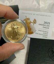 2021 American Eagle One Ounce Gold Uncirculated Coin In Hand Sold Out At Mint