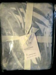 POTTERY BARN Blue Layla Palm Duvet King Cal King NEW W TAGS SHIP NOW