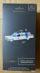 2021 Sdcc Hallmark Ghostbusters Ecto-1 And Rtc Light And Sound Exclusive Ornament
