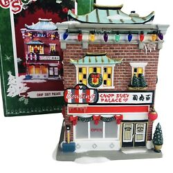 Dept 56 A Christmas Story Chop Suey Palace Lighted Restaurant Village In Box