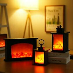 Led Fireplace Table Night Lamp Plastic Unique And Extraordinary For Living Room