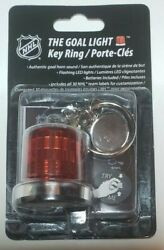 Official Nhl The Goal Light Key Ring- Goal Horn Sound- Lights Up- New- Nhl Extra