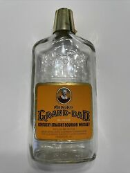 Vintage Old Grand-dad Whiskey Bottle 500ml W Shot Glass Like Cap And Seal Stamp