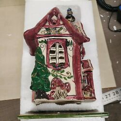 Retired Blue Sky Clayworks Heather Goldminc Cozy Corner House With Under Plate N