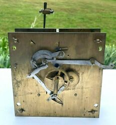 Antique German Grandfather Clock Complete Movement Mechanism Germany Parts