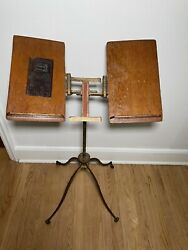 Antique Noyes Aermotor Cast Iron Dictionary/bible/book Stand 1880and039s