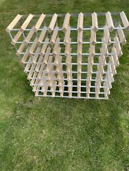 30 Bottle Wine Rack Wood And Metal Free Standing Self Assembly