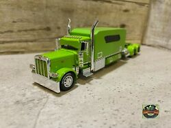 Custom Dcp Peterbilt 389 With Extended Sleeper Lime Green 1/64