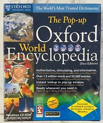 New And Sealed The Pop-up Oxford World Encyclopedia First Edition Pc Cd-rom