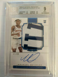 2020-21 National Treasures Rookie Patch Auto 107 Immanuel Quickley Rc 47/99