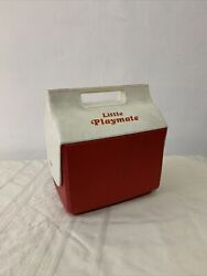 Little Playmate Vintage Cooler Igloo Brand Red Used Preowned Beer 6 Pack Retro