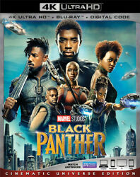 Black Panther 4K Ultra Blu Ray Digital Code With Slipcover