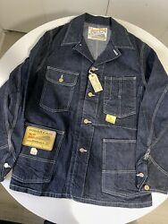 Sugar Cane Japan Raw Denim Chore Coverall Work Coat Jacket Brand New With Tags