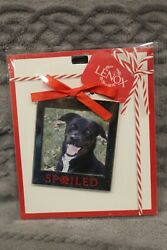 NEW Lenox Silver quot;SPOILED#x27; Pet Christmas Ornament Frame Picture Holder