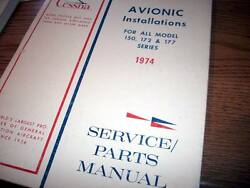 Factory Wiring Book 1974 Cessna 150 172 And 177 Service/parts Manual