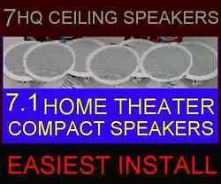 7-pack Home Theater Ceiling Wall - Compact Small 6.5 Hq 7.1 Speakers 7x