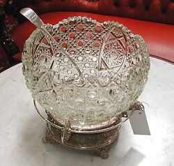 American Victorian Glass Punch Bowl 6289
