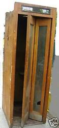 Vintage Wooden Wood Telephone Booth