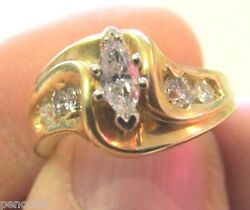 Beautiful Marquis And Round Diamond Ring Size 6. 5 Make Offer