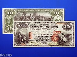 Reproduction 10 1875 National Bank Note Us Paper Money Currency Copy