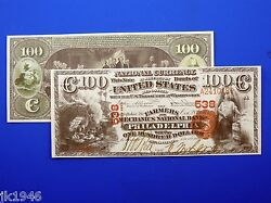 Reproduction 100 1875 National Bank Note Us Paper Money Currency Copy