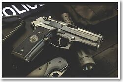 Police Weapon Hand Gun NEW POSTER