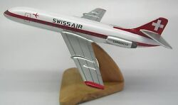 Sud Caravelle Se-210 Swiss Air Airplane Wood Model Big Free Shipping