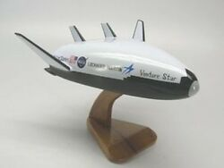 X-33 Venture Star Space Shuttle Wood Model Replica Small Free Shipping