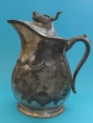 Antique Victorian Rogers Smith And Co. Plated Water Pitcher 9 H