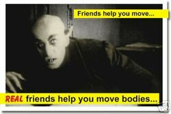 Friends help you move... Funny Humor Dorm POSTER