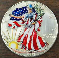 1999 Walking Liberty Silver Eagle, Colorized, Coins