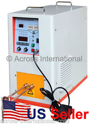 6.6KW 200-500KHz Hi-Frequency Compact Induction Heater Melting Furnace w Timers
